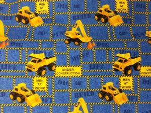 DIGGER BUILDER CONSTRUCTION - Fabric 100% Cotton - Price Per Metre